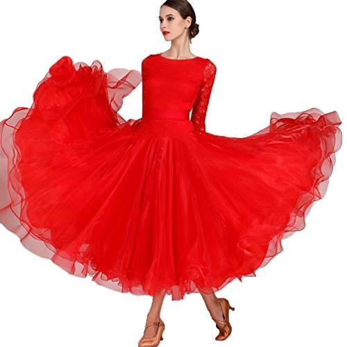 Ballsaal Tanz Kleid Flamenco-Walzer-Tango-Tanzkostüme für Frauen Moderner Tanzrock Große Schaukeln Adult Performance Tanz Wear, S