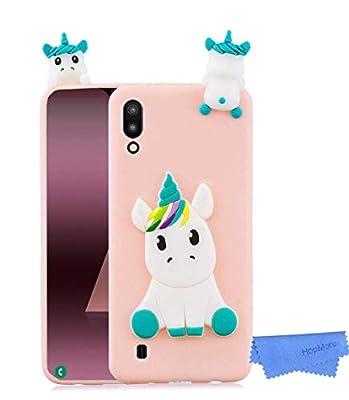 HopMore Unicornio Panda Funda para Samsung Galaxy A10 Silicona Dibujo 3D Carcasa Divertidas Kawaii Case Ultrafina Antigolpes Caso Protección Cover Gracioso para Chicas Mujeres - Unicornio Rosa