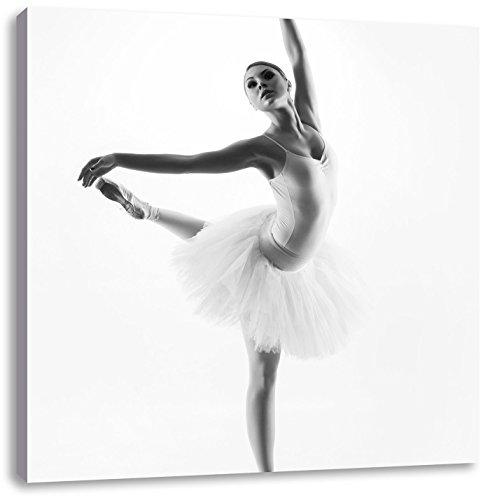 esthetische BallerinaCanvas Foto Plein | Maat: 70x70 cm | Wanddecoraties | Kunstdruk | Volledig gemonteerd