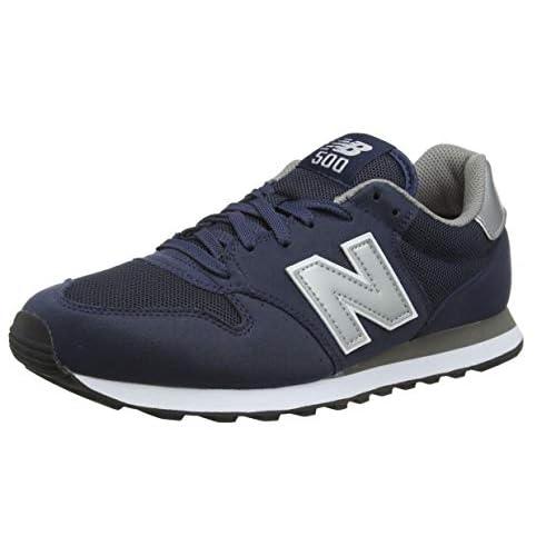 New Balance 500, Scarpe Sportive Uomo, Blu (Navy/Grey Navy), 45.5 EU
