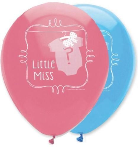 Gender Reveal Baby Douche - Boeg of Bowtie 12 Inch Latex Ballonnen x 6