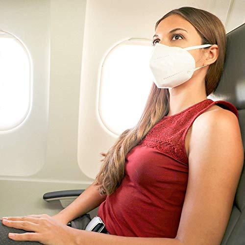Mund und Nasenschutz [10x] FFP2 Maske – DEKRA geprüfte Mundschutz Maske einweg Atemmaske, Maske EINZELVERPACKT, Atemschutzmaske ohne Ventil FFP2 Mundschutz - 8