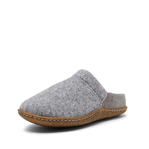 Sorel Damen Nakiska Scuff Slipper, grau (quarry)/braun (natural), Größe: 36