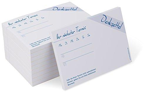 Terminblock Classic #1 blau (10 Blöcke) je 50 Terminzettel für Ärzte, Physio, Massage, Kliniken, neutral