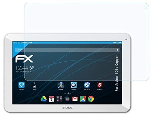 atFolix Schutzfolie kompatibel mit Archos 101b Copper Folie, ultraklare FX Displayschutzfolie (2X)