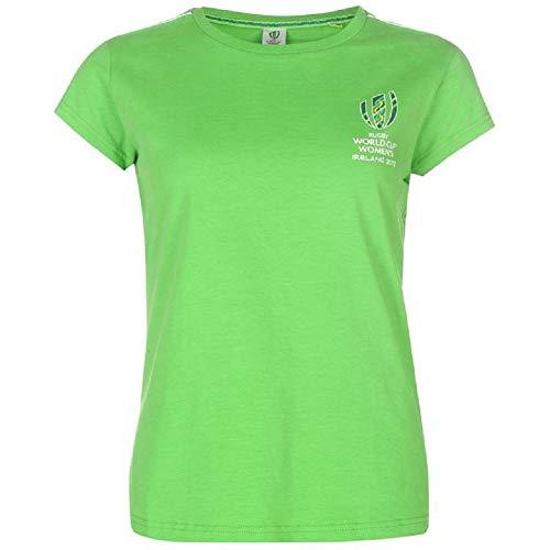 RWC - Camiseta para mujer de Rugby World Cup Irlanda, color verde brillante