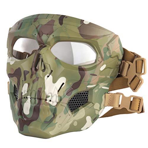 Garneck utomhus sport skydd tillbehör skalle taktisk mask maskerad skräck dekoration luftvapen spel skyddsmask halloween (CP2)