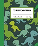 Dinosaur Composition Notebook College Ruled: Cute Dinosaur Composition Notebook College Ruled, Dinosaur Composition Book, 7.5x9.25 College Ruled Pages 20