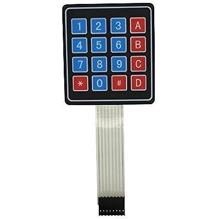 Teclado Interruptor de Membrana 4 x 4 16 Teclas Matriz para ...