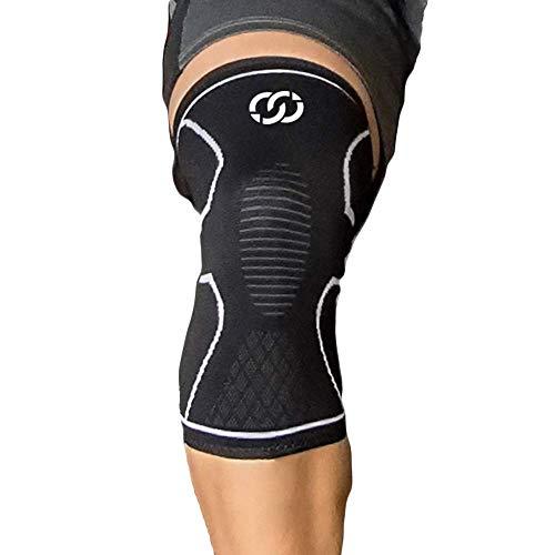 CompressionGear Kniebandage für Männer & Frauen - Kompressions-Knieorthese für Laufen, Radfahren, Gewichtheben, Handball, Training - Lindert Schmerzen & fördert Genesung - Antirutsch-Funktion