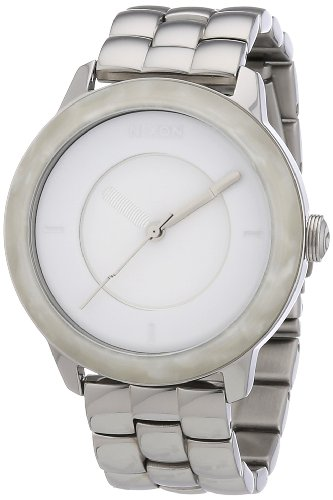 Nixon Damen-Armbanduhr The Divvy White Granite Analog Quarz Edelstahl A3451029-00