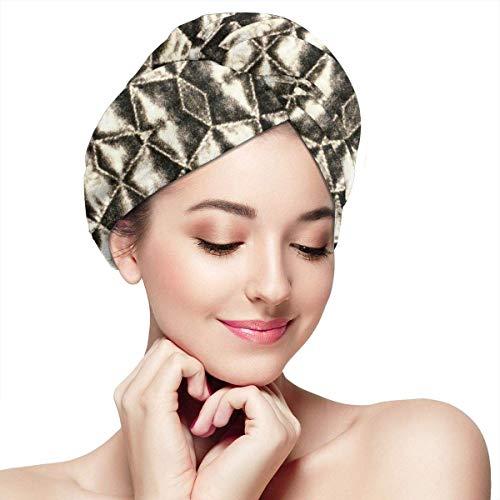 Xuetu Bonnet pour Cheveux secs en Microfibre, Papier Absorbant à séchage Rapide Super Absorbant, Turbans pour Cheveux mouillés - carrés argentés