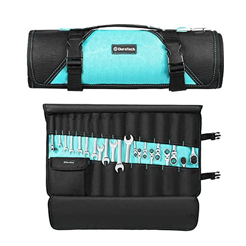 """DURATECH Tool Pouch / Wrench Organizer, 22 Pockets, 24.4"""" x 14.2"""", Tool Roll Bag for Electrician Carpenter Mechanics, Premium Waterproof Oxford Cloth Made, without Tools"""
