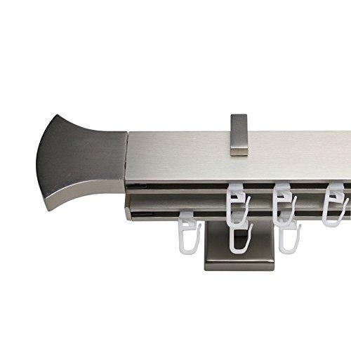 Stylelex Tetra Edelstahl-Optik 2-läufig - Träger 9,1cm - Rechteckig - 220cm - Pike - AM STÜCK!