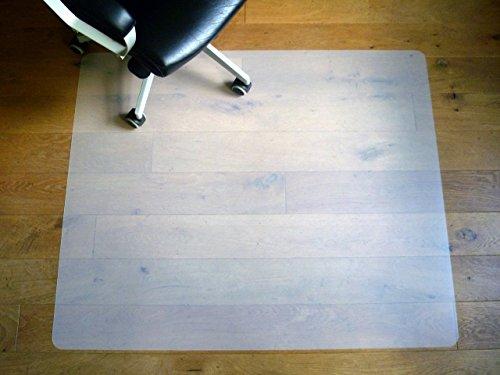 BODENSCHUTZMATTE 120 x 100 cm Bürostuhlunterlage Premium Eco PPNeutral milchig