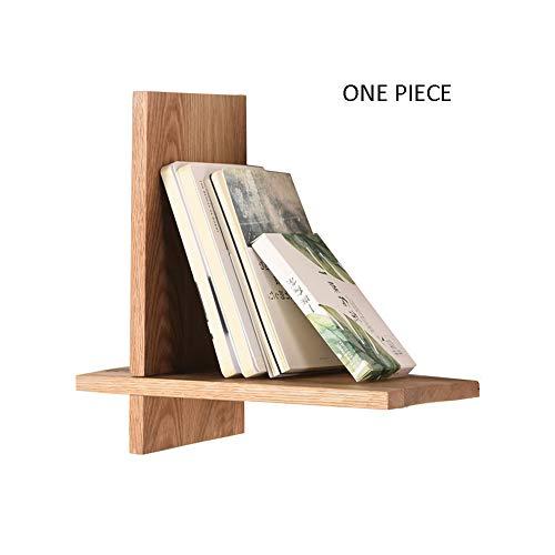 FEI Tablette murale en bois massif Tablette décorative en forme de V étagères décoratives flottantes 2 couleurs (30 * 15 * 30CM) (Couleur : A)