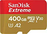 SanDisk 400GB Extreme microSDXC UHS-I Memory Card with Adapter - C10, U3, V30, 4K, A2, Micro SD…
