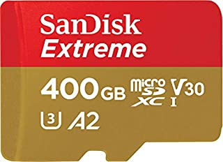 Carte Mémoire microSDXC SanDisk Extreme 400 Go + Adaptateur SD avec Performances Applicatives A2 jusqu'à 160 Mo/s, Classe 10, U3, V30 (B07FCQRN9K) | Amazon price tracker / tracking, Amazon price history charts, Amazon price watches, Amazon price drop alerts