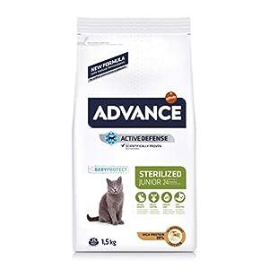 Advance Junior Sterilized - Pienso para Gatos esterilizados de hasta 2 años de Edad - 1.5 kg 2