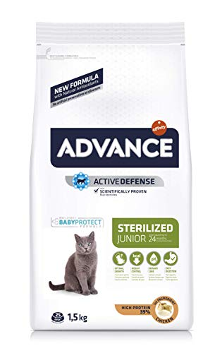 Advance Junior Sterilized - Pienso para Gatos esterilizados de hasta 2 años de Edad - 1.5 kg