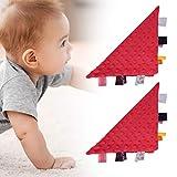Beruhigendes Handtuch, Bequemes Plüschtuch, Decke Weiches Baby Baby Baby Bequemes Plüschtuch für Kinder für das Baby(red)