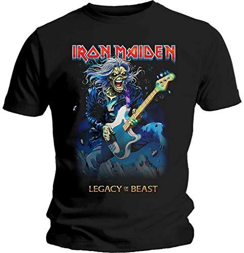 Iron Maiden 'Eddie On Bass' (Black) T-Shirt (Medium)