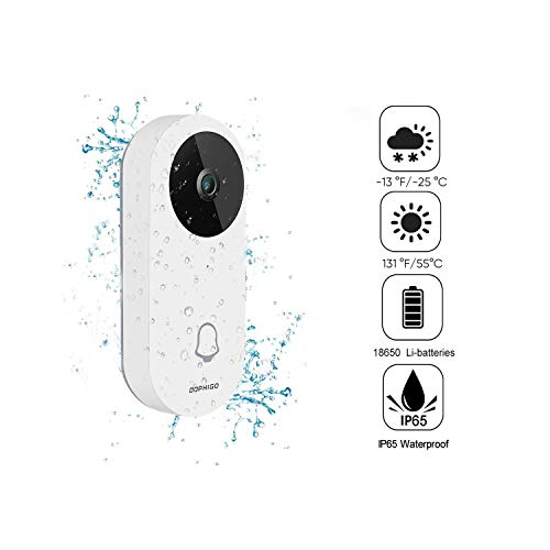Wi-Fi Enabled Video Doorbell,960P HD IP65 Waterproof Smart Doorbell Security...