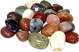 Natur Edelstein Trommelsteine im Nature Mix, 1 kg, große Steine 3-4,5 cm / 20-30 Steine