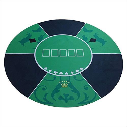 YLYWCG tapete de Juego Poker portátil de Mesa Redonda Juego 1.2x1.2m Tabla Mat Tabla de Goma Techo de Lona póker del Casino de Juego de Mesa de Juego Texas Hold