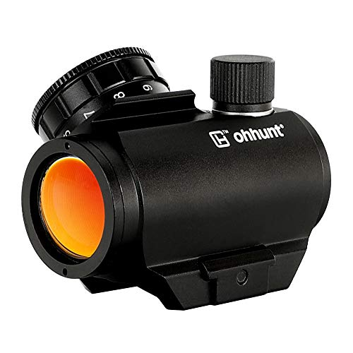 ohhunt 1X25mm 3 MOA Red Dot Sight Low Power Compact Red Dot Scope 20mm Weaver Picatinny Mount