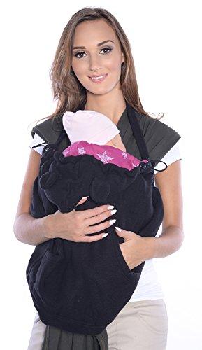 Mija - Tragecover, Universal Bezug für Baby Carrier/Tragetücher/Cape 4023 (Schwarz/mit Sternen)