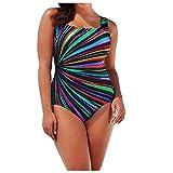 Bikini Brasileña Talla Grande para Mujer,Verano Bragas Sexy Colores Ropa de Playa,Bañador Estampado Braguita Tanga Brasileño Push Up con Cintura Alta