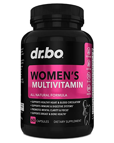 Womens Multivitamin - Natural Daily Multi Vitamins for Women - Vitamin C, D, E, Magnesium, Plus Zinc - Energy and Immune Support Supplement - Breast, Bone, Heart Health - Non GMO, Dairy, Soy