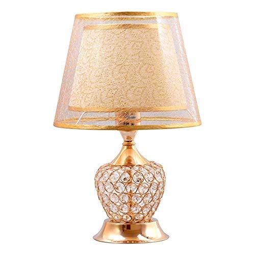 Lvhayon Tischlampe Kreative Wohnzimmer Lampe Schlafzimmer Nachttischlampe Moderne Minimalist, Hochzeit, Ehe Metalllampe Warm Kristallleuchten Tisch Lighing