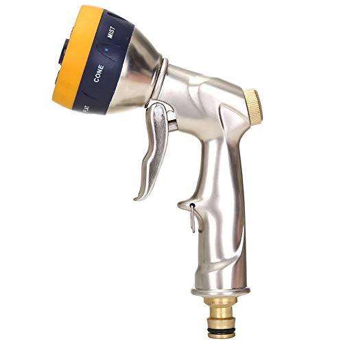 Schlauch-Düse Gartendusche Metall Voll Kupfer Hochdruck-Garten-Wasser-Gewehr Anti-Skid Car Wash Bewässerung Pet Bath Hochdruckreiniger Gun (Farbe : Brass, Size : One Size)