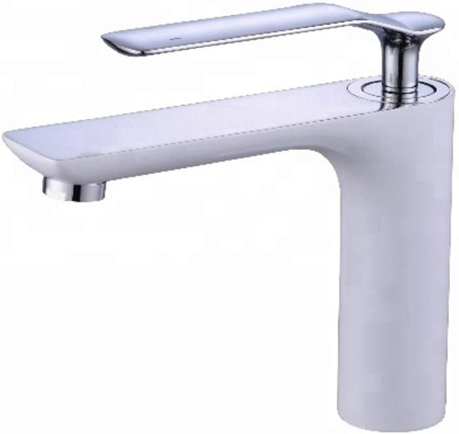 Bathroom Sink Tap Luxury Basin Sink Mixer Tap White Deck Mounted Single Handle Modern Basin Faucet