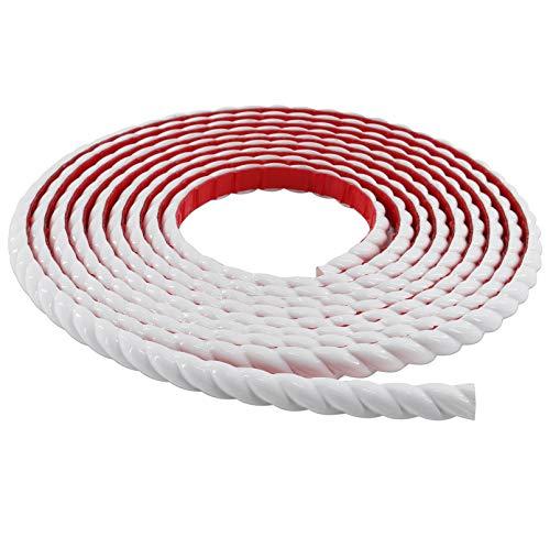 Neatiease Flexible Zierleisten Sparpaket, selbstklebend, 4,9 m Fugen - und Zierleiste für Schrankkanten, Wandkanten, Türen, Spiegelrahmen, Heimdekoration (Weiß)
