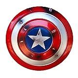 Escudo Capitan America Adulto Metal 1: 1 Apoyos de Película Avengers Réplica de Marvel Metal Escudo Capitan America para niños y fanáticos de Cospiay B,47cm