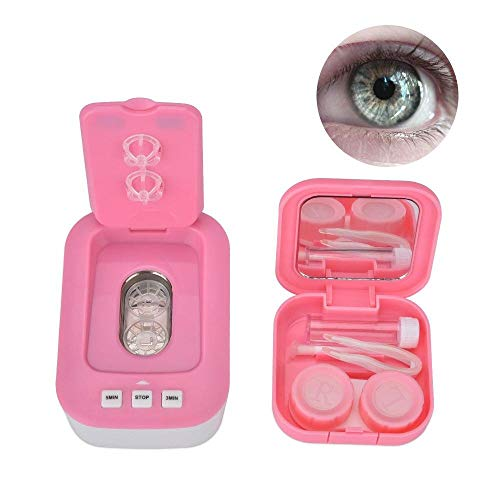 Contact Lens Cleaner, Mini Ultrasonic Contact Lens Cleaner Health Care Household Automatic Ultrasonic Cleaning Machine