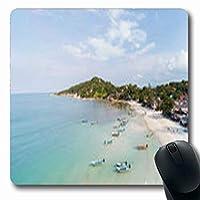 マウスパッドオーシャンハードリンビーチ航空写真パンガンネイチャーパークス屋外長方形7.9 X 9.5インチ長方形ゲームマウスパッド滑り止めラバーマット