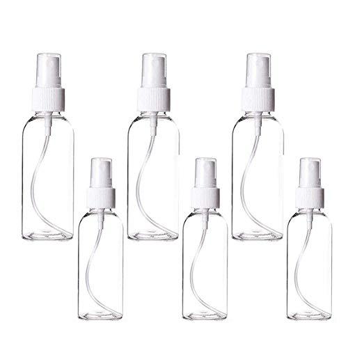 6PCS Zerstäuber sprühflasche, Pumpzerstäuber Sprühflasche transparent, Parfumzerstäuber nachfüllbar Reise Zerstäuber Flaschen(30ml&50ml)