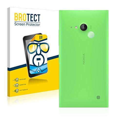 BROTECT Schutzfolie kompatibel mit Nokia Lumia 730 Dual SIM (NUR Kamera) (2 Stück) klare Bildschirmschutz-Folie
