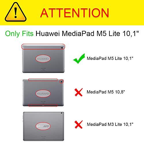 Fintie Hülle für MediaPad M5 Lite 10-360 Grad Rotierend Stand Schutzhülle Cover mit Auto Schlaf/Wach Funktion für Huawei MediaPad M5 Lite 10 10.1 Zoll 2018 Modell Tablet PC, Schwarz