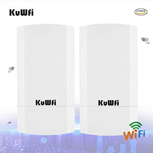 2-Pack 900Mbps Outdoor CPE Kit Indoor & Outdoor Punkt-zu-Punkt Wireless CPE Unterstützt 1KM Übertragungsentfernung Lösung für PTP, PTMP