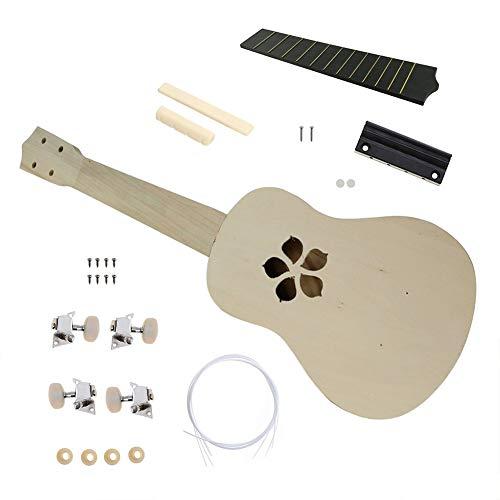 Beesclover, kit fai da te per ukulele in legno di tiglio hawaiano, da 53,3 cm, Cherry blossom