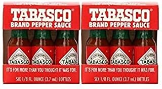 TABASCO brand Pepper Sauce 6-pack Miniatures 1/8oz (2 Pack)