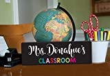 Personalized Teacher Sign, Classroom Door Hanging Sign, Unique End of Year Teacher Gift