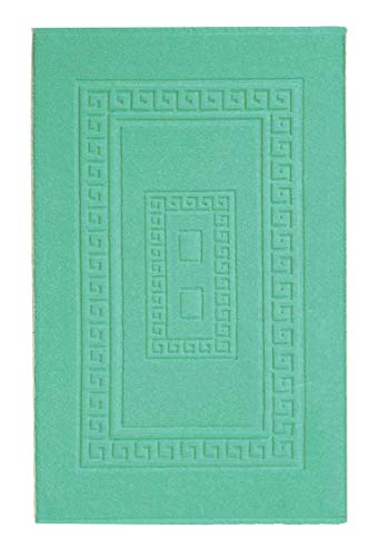 CASA TESSILE Torino Tappeto Bagno in Spugna 60X90 cm. - Verde Acqua