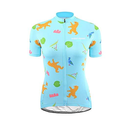 Uglyfrog Damen T-Shirt Radsport Trikots Funktionsshirt Reißverschluss Sommer Bekleidung