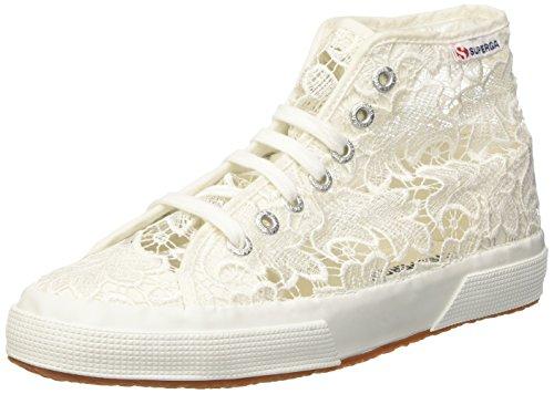 SUPERGA 2795-MACRAMEW, Sneaker a Collo Alto Donna, Bianco (White 901), 39 EU
